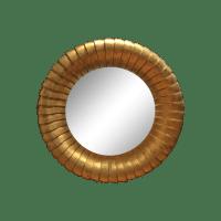Huge Round Decorative Mirror in Gold | Chairish