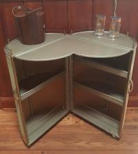 Vintage 50s Portable Round Bar Cart
