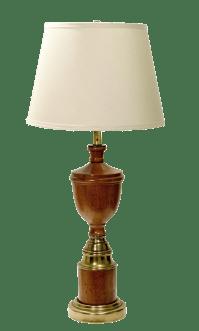Vintage Wood & Brass Mid-Century Lamp   Chairish