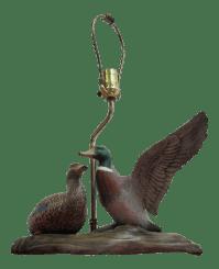 Vintage Mallard Duck Table Lamp - A Pair   Chairish
