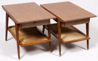 Mid-Century Mahogany Laminate Tables - 4 | Chairish