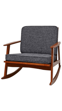 Gray Mid-Century Modern Danish Style Rocking Chair | Chairish