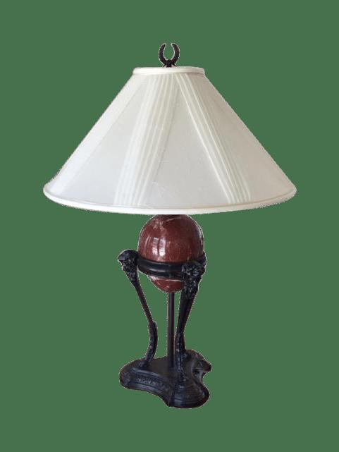 Vintage Chapman Centaur Marble Egg Lamp