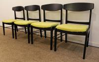 Mid-Century Danish Modern Ebonized 'Citron' Curved Back ...