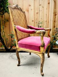 Louis XVI Chair With Velvet Upholstery | Chairish