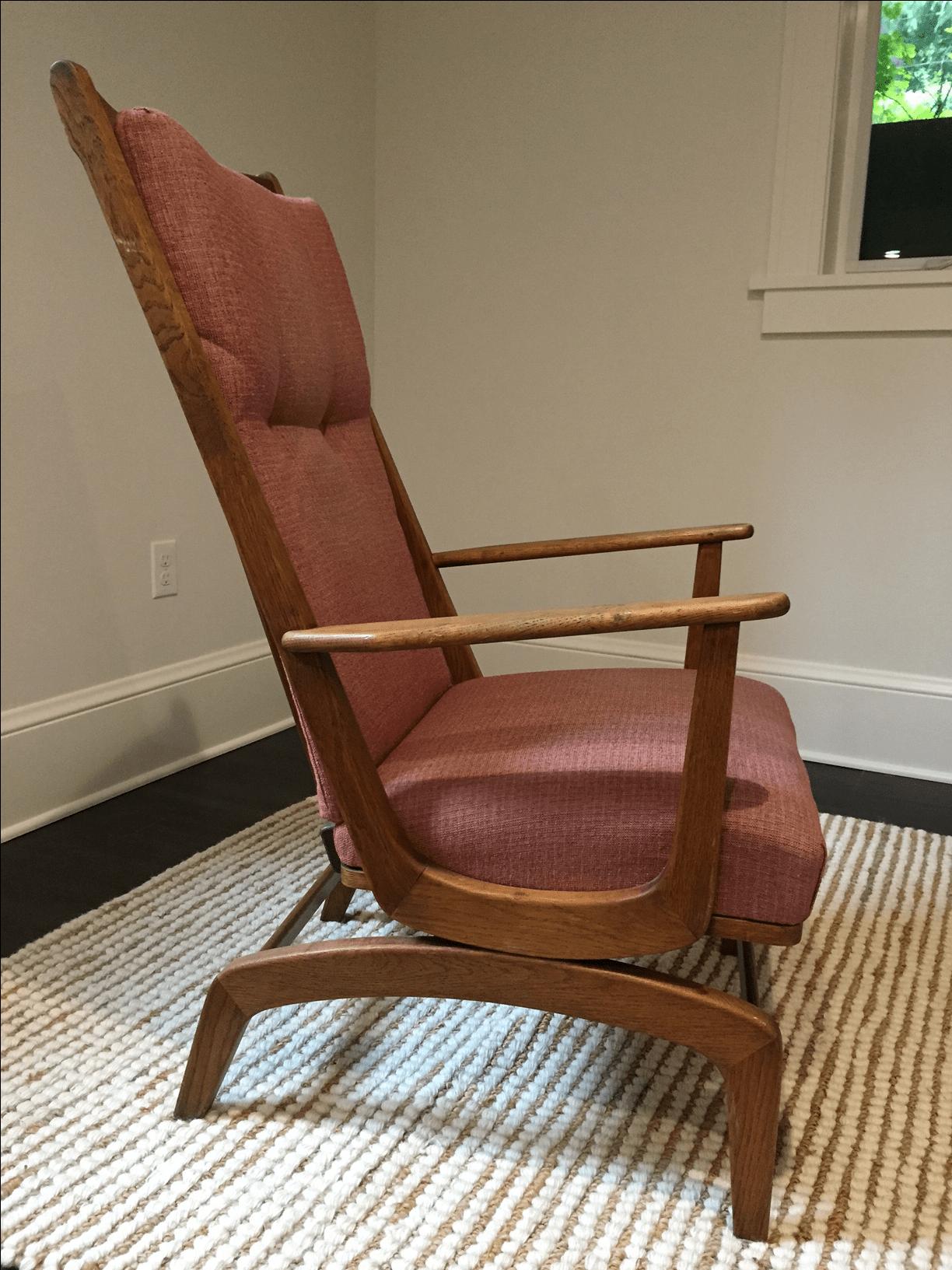Mid Century Modern Glider Rocking Chair  Chairish