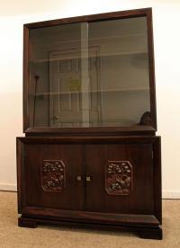 James Mont Mid-Century Asian Ming-Style Mahogany Display ...