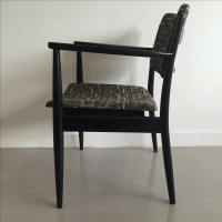 Black & Yellow Mid-Century Office Chair | Chairish