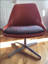 Vintage Steelcase Mid Century Modern Chair | Chairish