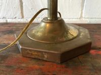 Vintage Desk Lamp With Green Glass Shade | Chairish