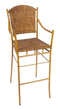 Faux Bamboo Bar Stool   Chairish