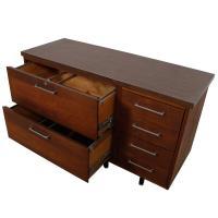 Mid Century Modern Walnut Filing Credenza Cabinet | Chairish