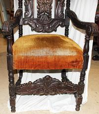 English Baroque Gothic Armchair | Chairish