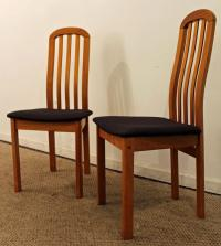 Mid-Century Danish Modern Teak Spindle-Back Side/Dining ...