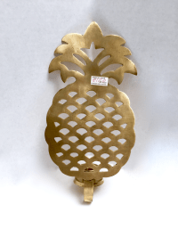 Brass Pineapple Candle Sconces - A Pair | Chairish