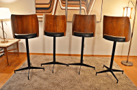 Mid-Century Brody Bar Stools - Set of 4 | Chairish