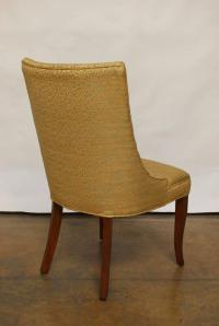 Mid-Century Modern Scoop Back Gold Side Chairs | Chairish