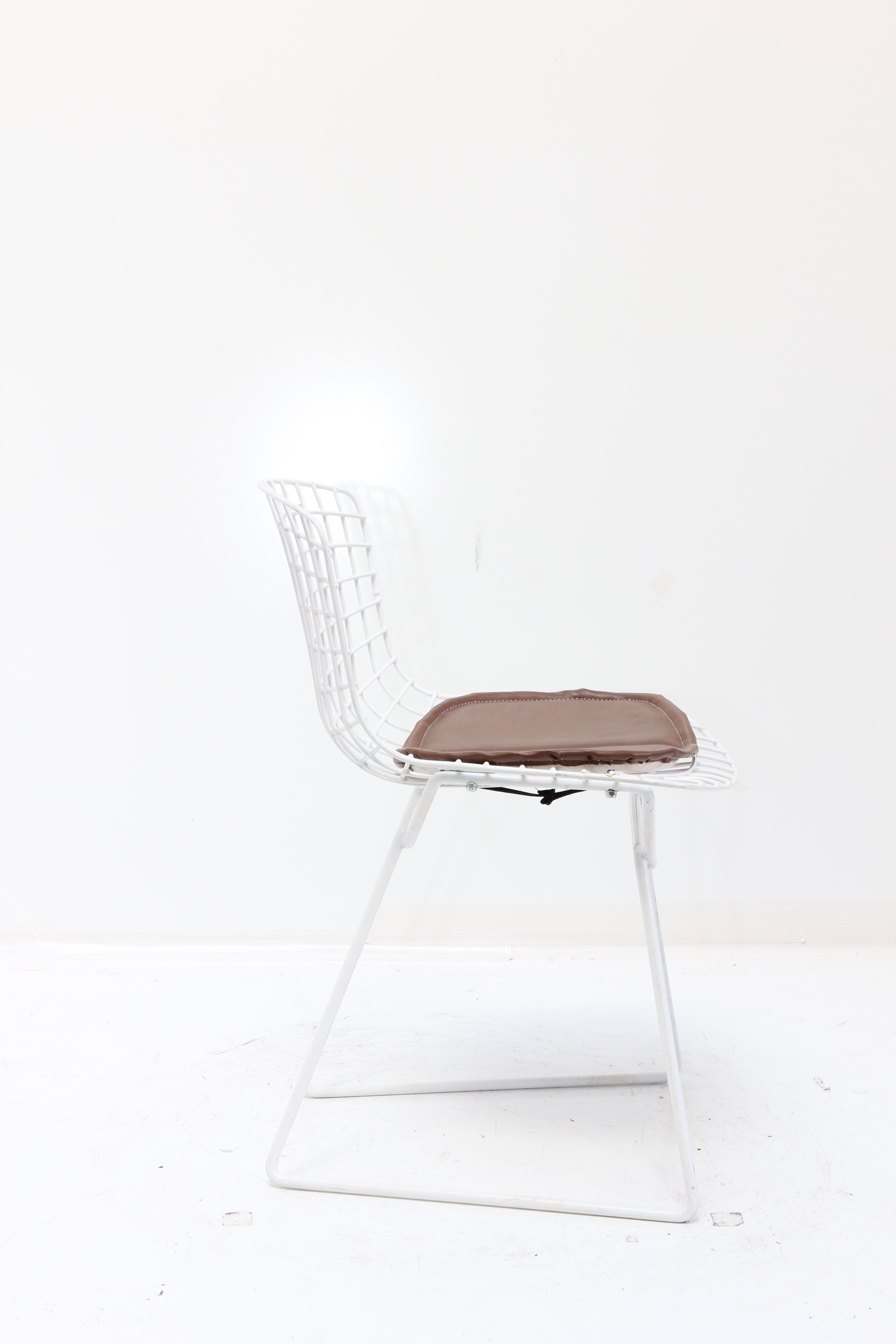 Knoll Bertoia Child Size Chairs White/Brown