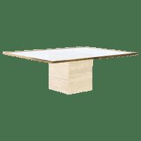Mid-Century 1970 Modernist Travertine Coffee Table   Chairish