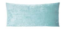 Turquoise Chenille Lumbar Pillow | Chairish