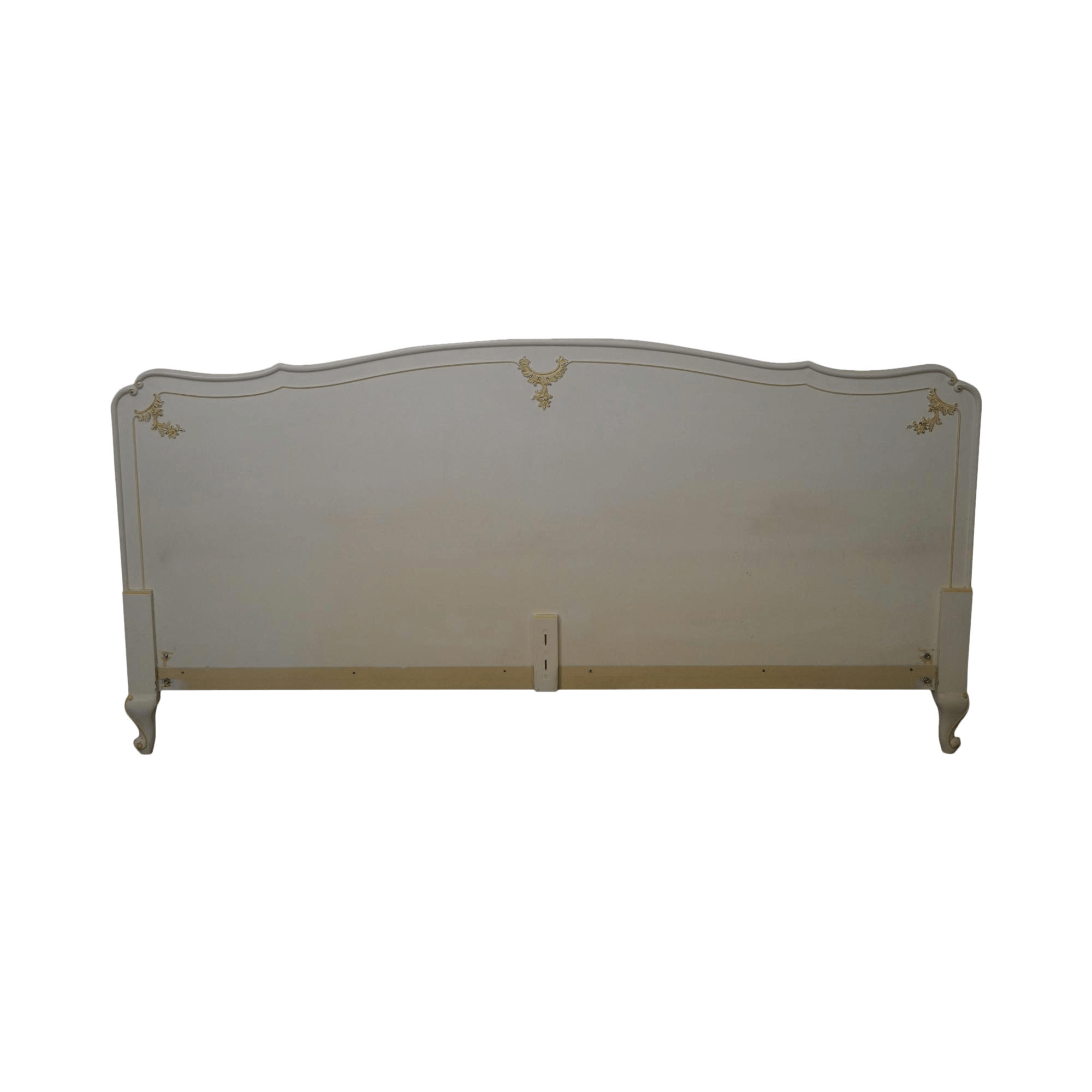 hickory chair king size bed nat's fishing french louis xv-style headboard | chairish