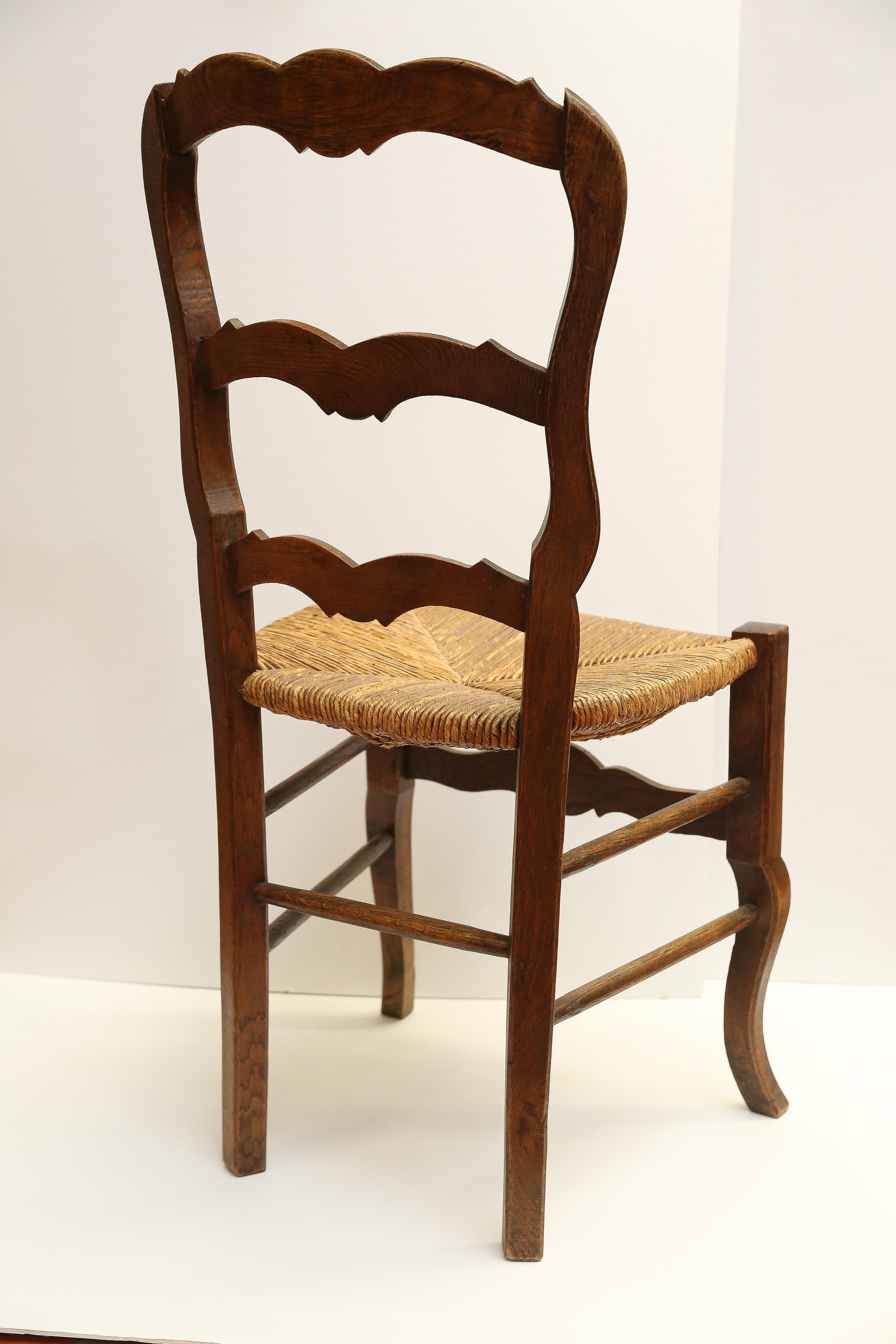 Country French Side Chair WRush Seat  Chairish