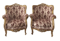 Baroque Bergre-Style Chairs - A Pair | Chairish