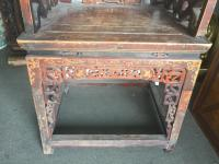 Antique Chinese Carved Throne Chair | Chairish