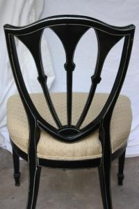 Antique Shield Back Black Chairs - Set of 4 | Chairish