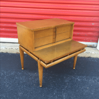Mid Century End Table With Drawer by Kent Coffee | Chairish