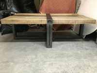 Salvaged Butcher Block Coffee Table | Chairish