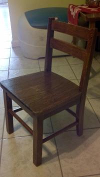 Child / Toddler Traditional Wooden Mini Chair | Chairish