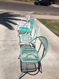 Mid-Century Salterini Hoop Patio Chairs | Chairish