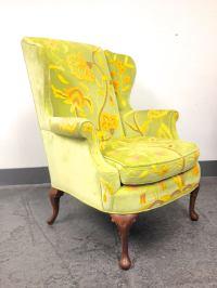 Mid-Century Kindel Grand Rapids Wing Back Chair | Chairish