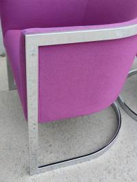 Chrome Cantilever Barrel Chairs - A Pair | Chairish