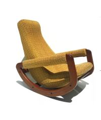 Mid-Century Danish Modern Rocking Chair | Chairish