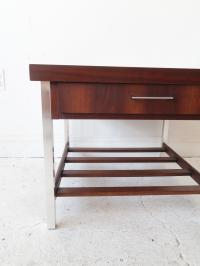 Vintage Mid Century Modern End Table with Chrome Legs ...