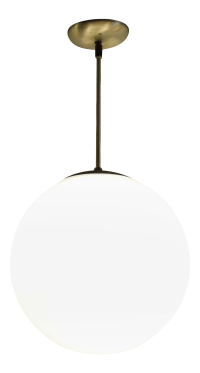 Vintage Mid-Century Globe Pendant Light | Chairish