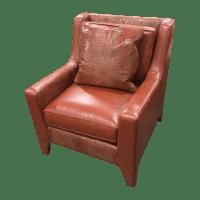 Leathercraft Burnt Orange Leather Accent Chair | Chairish
