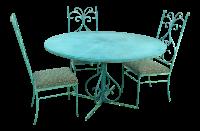 Green Mid-Century Metal Patio Set   Chairish