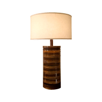 Mid-Century Danish Modern Ceramic Table Lamp | Chairish