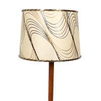 Danish Modern Floor Lamp with Wave Pattern Shade | Chairish