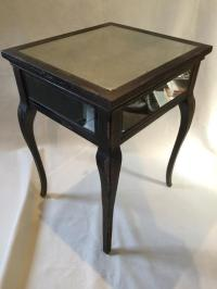Antique Mirror End Table | Chairish