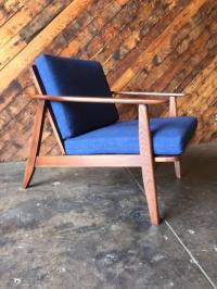 Mid-Century Refinished Danish Lounge Chair | Chairish