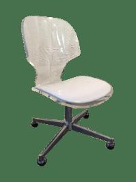 Mid Century Modern Sculptural Lucite Desk Chair | Chairish