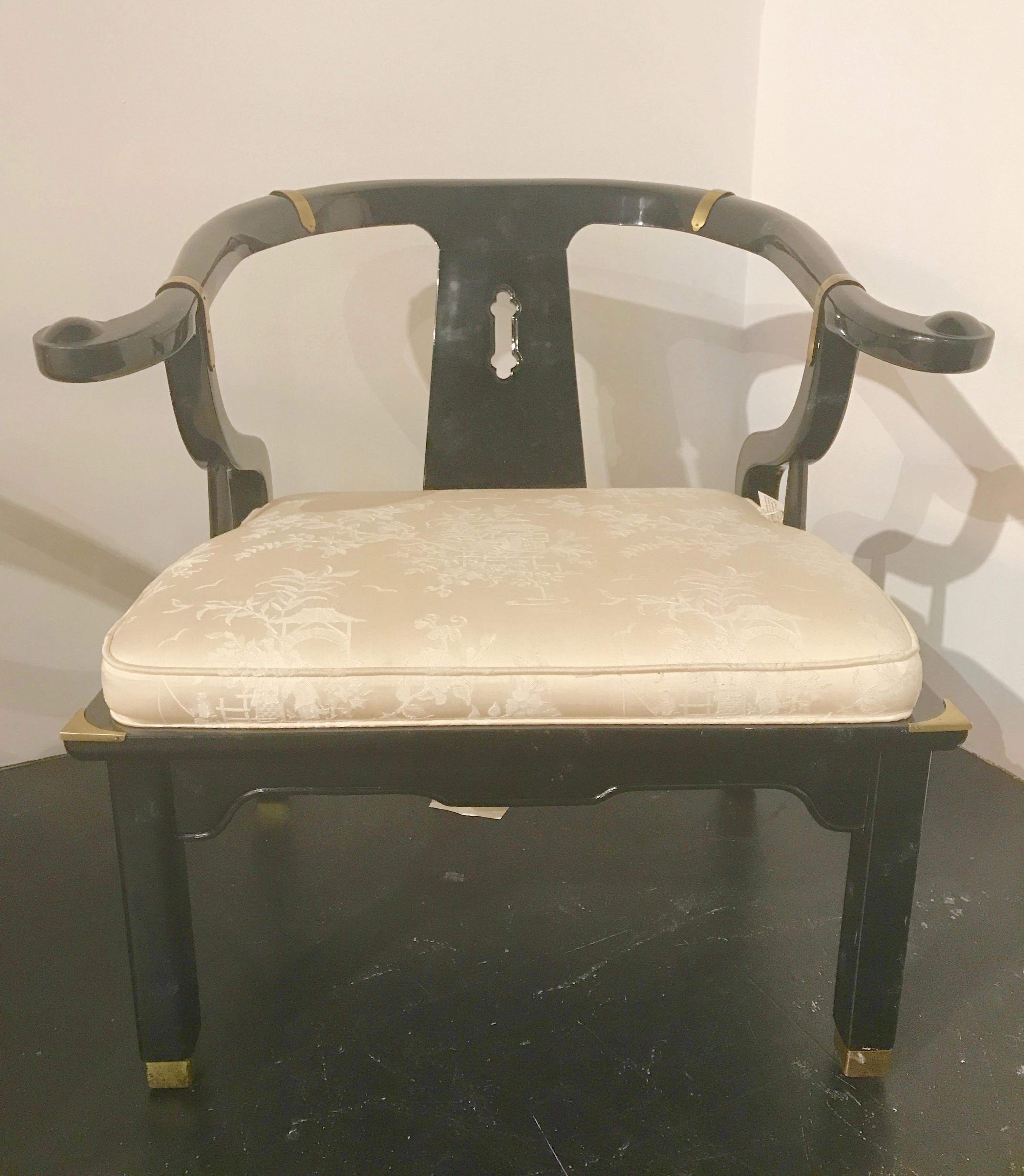 James Mont Century Ming Horseshoe Chairs  A Pair  Chairish
