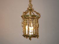 Vintage Brass Lantern Style Pendant Lamp | Chairish