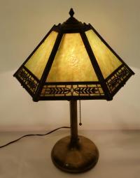 Vintage Pilabrasgo 1920's Slag Glass Table Lamp | Chairish