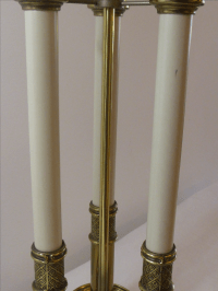 Stiffel Bouillotte Brass 3 Candlestick Table Lamp | Chairish