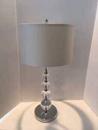 Contemporary Crystal Ball Table Lamp | Chairish